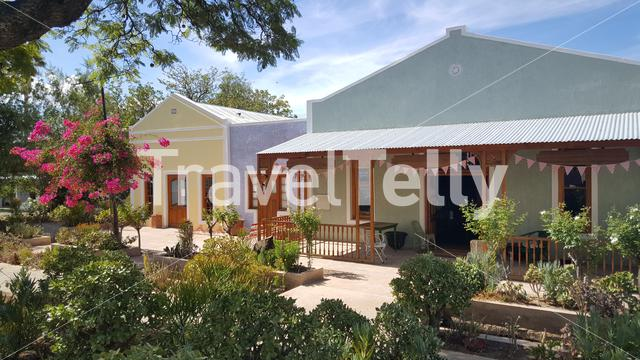 Colorful houses in Prince Albert a town at the foot of the Swartberg Mountains in South Africa