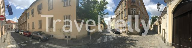 Panorama from Architecture in the old town of Zagreb Croatia