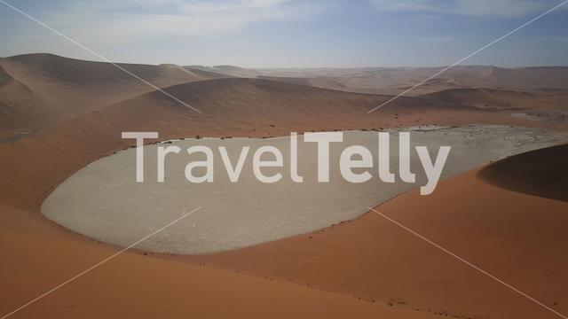 View from Big Daddy Dune at Sossusvlei in Namibia