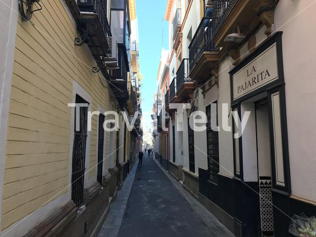 Walking through the streets of Seville Spain