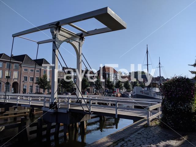 Bridge over a canal in Zwolle, The Netherlands