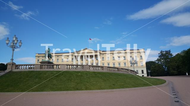 The Royal Palace in Oslo the 19th-century residence of the King & Queen of Norway