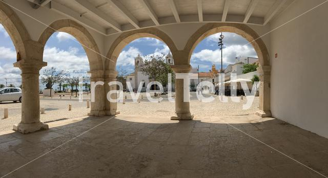 Panorama from the Slave Market (Mercado de Escravos) in Lagos Portugal