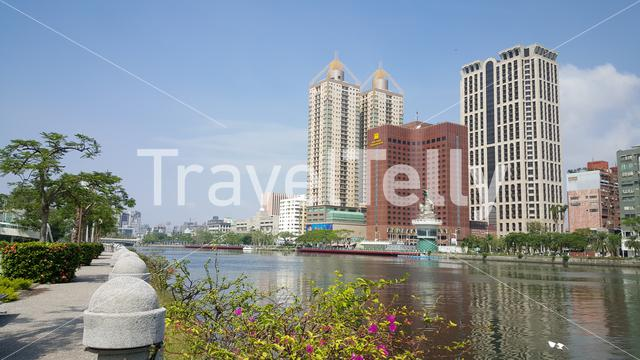 Love River in Kaohsiung City Taiwan