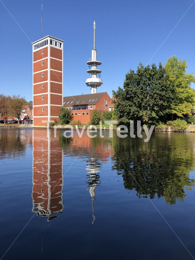 Telecommunications tower in Emden Germany