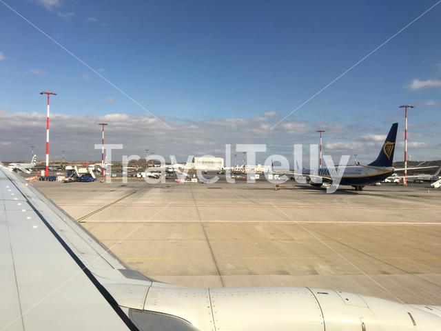 Leaving Athens International Airport in Greece