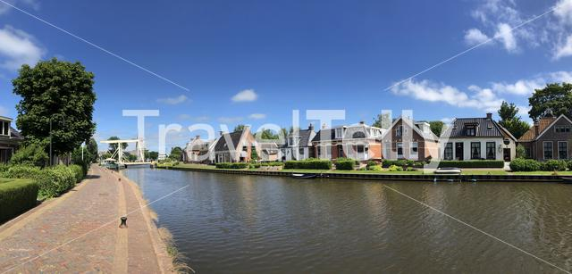 Panorama from the town Burdaard in Friesland The Netherlands