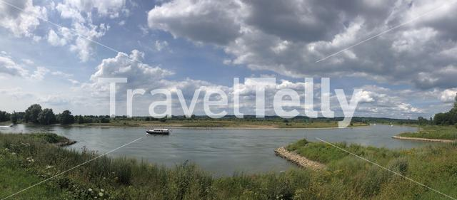 IJssel river panorama in Gelderland, The Netherlands