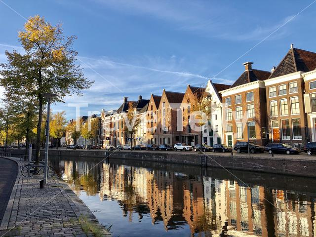 Old town during autumn in Groningen The Netherlands