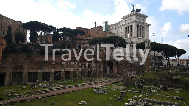 Forum of Caesar in Rome Italy