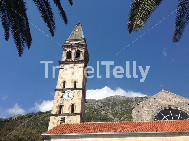 St. Nikola Church in Perast old town on the Bay of Kotor in Montenegro