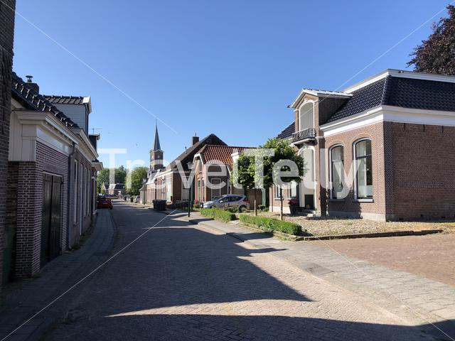 Street in Jirnsum Friesland The Netherlands