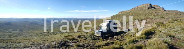 Panorama from the scenery at Drakensberg in Lesotho