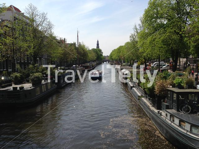 Canal cruise in Amsterdam, The Netherlands