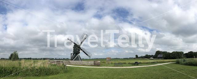 Windmill around IJlst in Friesland The Netherlands