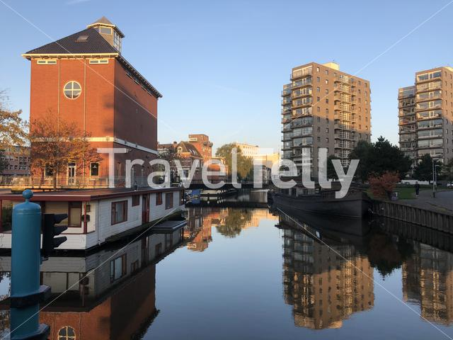 Canal in Groningen The Netherlands