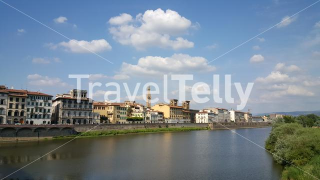 The Fiume Arno river in Florence Italy