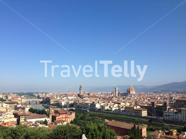 View from the Piazzale Michelangelo in Florence Italy