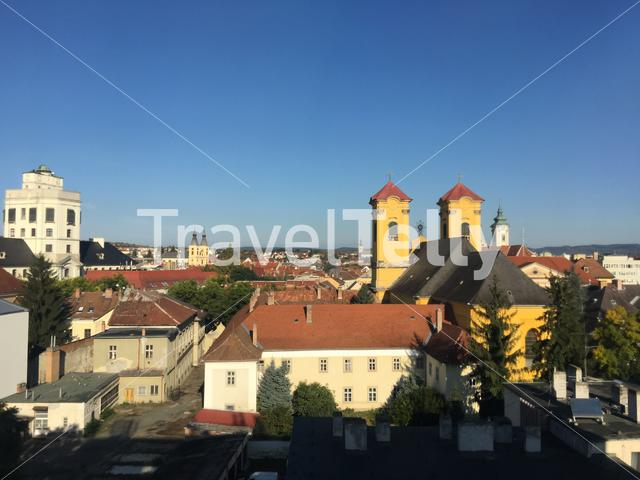Aerial view from Eger Hungary