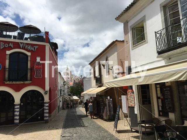 Street in the Old town of Lagos Portugal