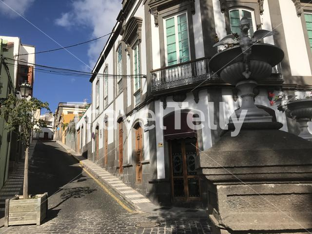 Street going up hill in Arucas Gran Canaria