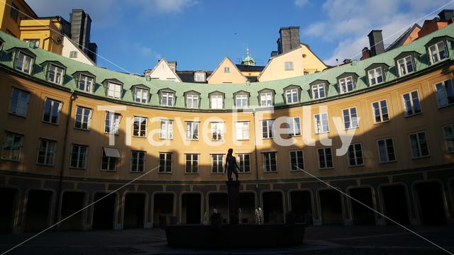 Brantingtorget is a courtyard of the so-called Kanslihusannexet acting as one of the public squares in Gamla stan, Stockholm Sweden