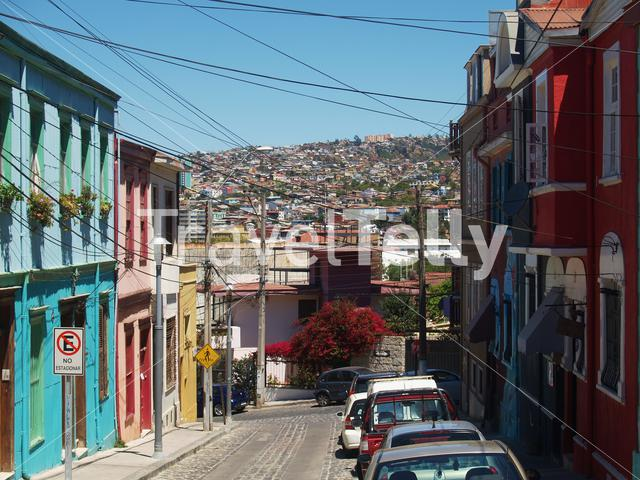 Colorful houses in valparaiso a port city on Chile