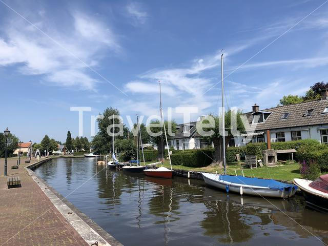 Canal in Langweer, Friesland The Netherlands