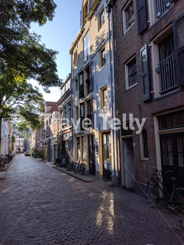 Street in the old town of Zwolle, The Netherlands