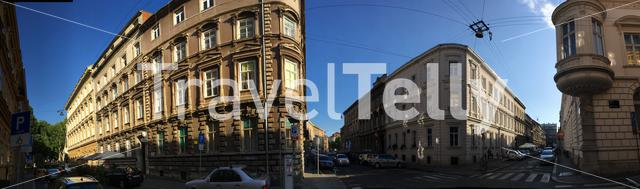 Panorama from buildings downtown Zagreb Croatia