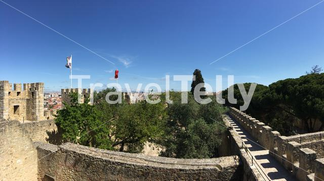 Panorama from the Castelo de S. Jorge in Lisbon Portugal