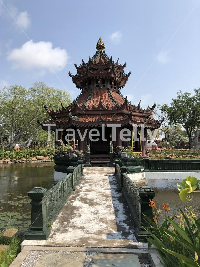 The phra kaew pavilion at the Ancient Siam, Thailand