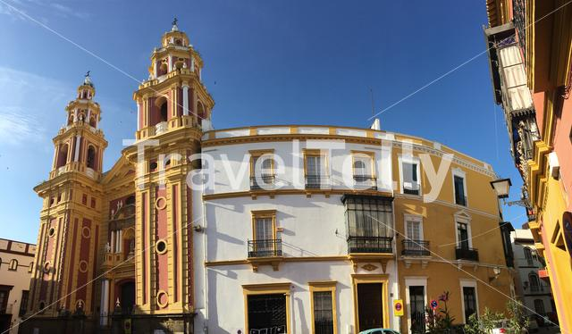 Panorama from the Iglesia de San Ildefonso in Seville Spain