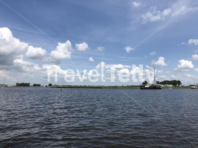 Terhornsterlake in Friesland, The Netherlands