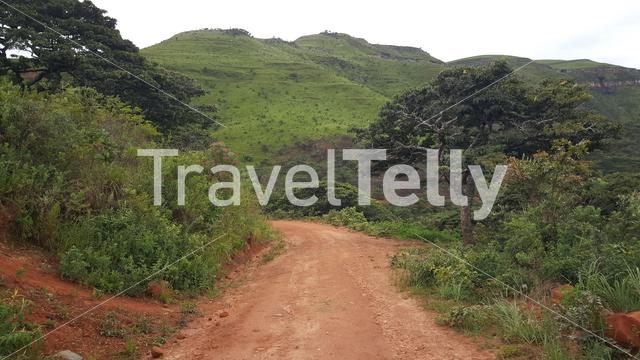 Road through Chimanimani National Park in Zimbabwe