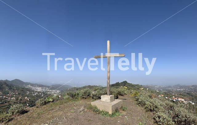 Cross on the hill on the island of Gran Canaria