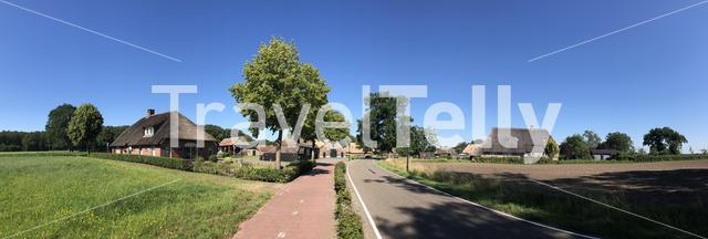 Panorama from the village Beerze in Overijssel The Netherlands