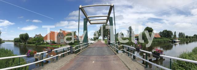 Panorama from the bridge in Abbega, The Netherlands