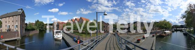 Bridge over a canal in Coevorden, The Netherlands
