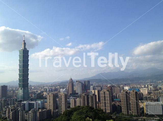 101 Tower in Taipei, Taiwan. Photo made from the Elephant mountain