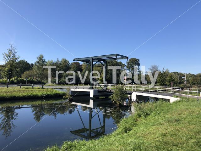 Bridge over the Apeldoorns canal around Spankeren, Gelderland The Netherlands