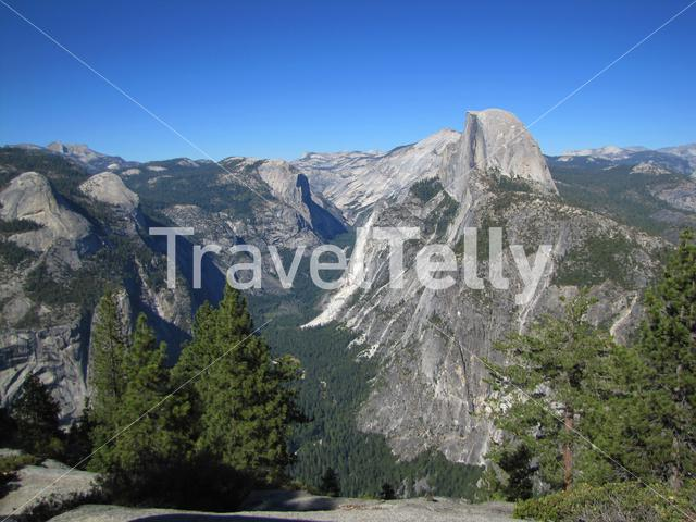 View from Glacier Point in Yosemite National Park in the United States