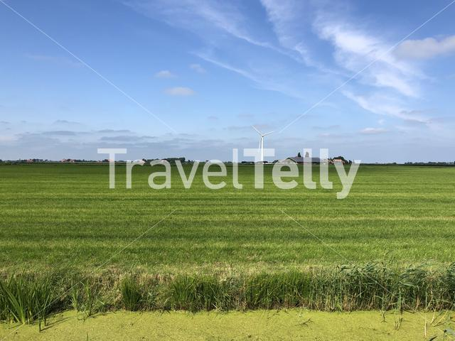 Farmland around workum in Friesland, The Netherlands