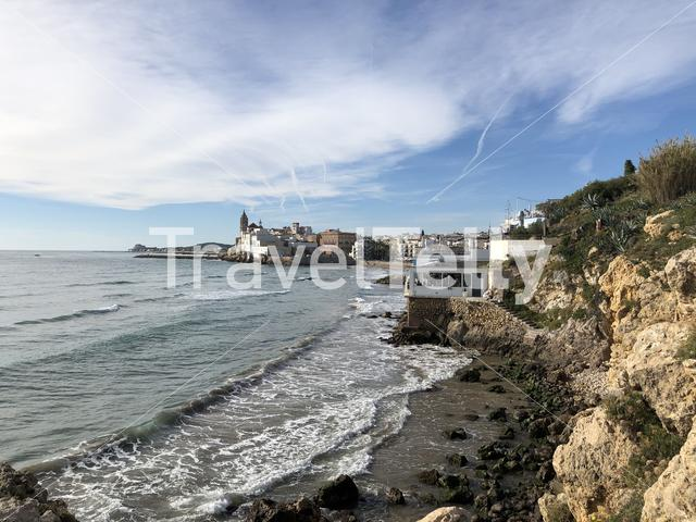 Coast of  Sitges, Spain