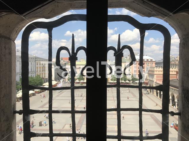 View from the Town Hall Tower in Krakow Poland