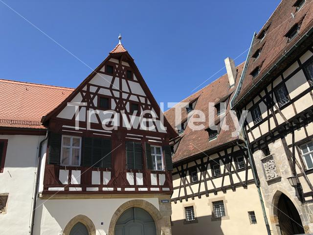 Timber-frame houses around the Bamberg Cathedral in Bamberg Germany