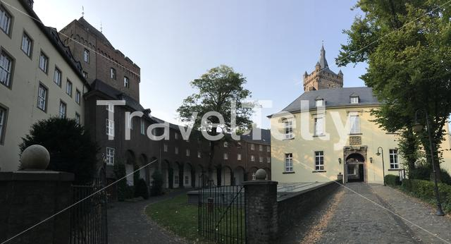 Panorama from the Schwanenburg Castle in Kleve Germany