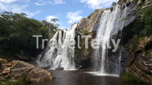 Waterfall at Chimanimani National Park in Zimbabwe