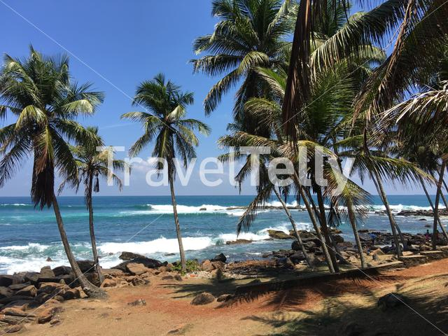 Dondra coast and the most southern point in Sri Lanka