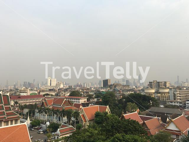 Bangkok city view from Golden Mount